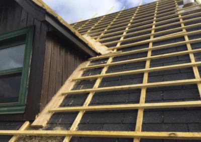 Préparation toiture en polytuil