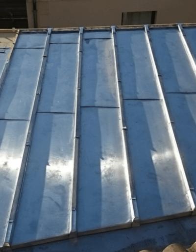 Détail terrasson zinc