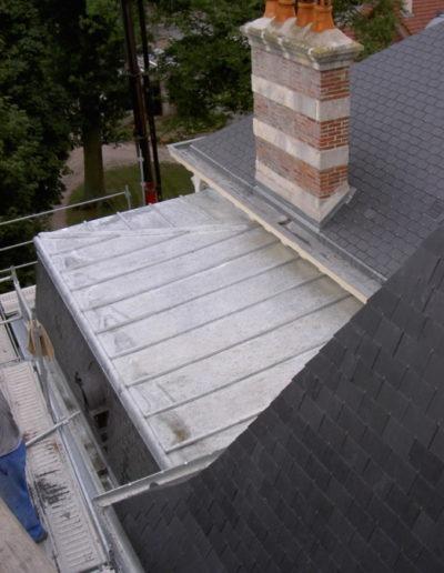 Rajout toiture en zinc