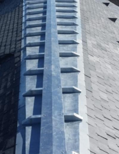 Haut de toit en zinc